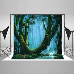 Wholesale Background Forest - Kate 7x5ft Photography Backdrop for Children Mushrooms Forest Photo Background Cotton No Wrinkle Photo Booth Props HJ03495