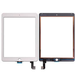Wholesale Original Touch Screen Digitizer - 20PCS Original Touch Screen Glass Panel Digitizer for iPad Air 2 Balck and White free Shipping