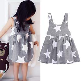 Wholesale Gray Tutus For Girls - Dresses For Girls 2017 Girl Solid Sleeveless Dress Kids Summer Cute Dresses For Baby Girl Toddler Dress Child Clothes