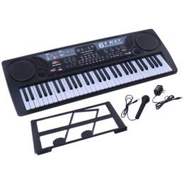 Wholesale Piano 61 - 61 Key Digital Music Electronic Keyboard Kids Electric Piano Organ Black