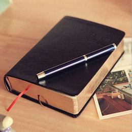 Wholesale Book Blank Pages - Wholesale- Big Size 320 Pages Thick Pu Leather Phnom Penh Note Book Retro Thickened biblical book blank NoteBook 809