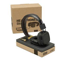 Wholesale Bluetooth Wireless Monitor - Marshall Major headphones With Mic Deep Bass DJ Hi-Fi Headphone HiFi Headset Professional DJ Monitor Headphone