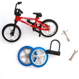 Wholesale Plastic Toy Mini Bikes - Wholesale-New Miniature Finger Bicycle Bike Mini Toy Alloy Multicolor Kids Gift Outdoor Sports Bicycle Game Gift for Children toys