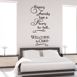 Wholesale Wall Stickers Welcome - Welcome to our home Family quote wall decals decorative removable heart vinyl wall stickers Home Decor Bed Room Home Decoratrom