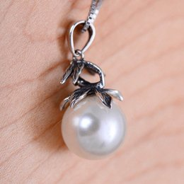 Wholesale Dragonfly Pearl Necklace - jarry 234 S925 sterling silver jewelry dragonfly with artificial imitation pearl tieba pendant necklaces
