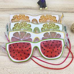 Wholesale Ice Goggles - Cartoon Eye Sleep Masks Fruit Summer Ice Goggles Relieve Eye Fatigue Remove Dark Circles Sleeping Masks Eye Patches Eyepatch