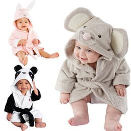 Wholesale Infant Baby Modeling - baby kids Hooded Animal modeling Cloak Baby Bathrobe Cartoon infant bath towel