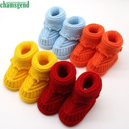 Wholesale Crochet Cute Baby Shoes - Wholesale- CHAMSGEND Best baby shoes moccasins cute winter autumn new Handcraft Shoes Toddler Baby Knitting Lace Crochet Shoes Buckle S35