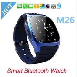 Wholesale Led Watch Touch Blue - M26 Bluetooth Smart Watches LED Display Sports wrist Watch Touch Screen Smartwatch WristWatch for IOS Samsung LG Smartphone