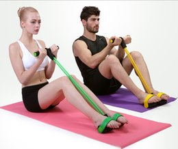 Wholesale Tension Ropes Exercise - New man and women Fitness Equipments Ab Rollers with Tension rope Double-Wheeled Trainer Abdominal muscles exercise Foot pull rope