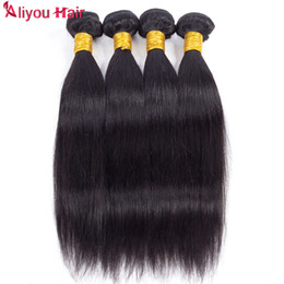 brazilian body wave hair ponytail Promo Codes - Best Sale Daily Deals Mink Brazilian Straight Virgin Hair Weaves Wet and Wavy Remy Human Hair Bundles Ponytail Wholesale Hair Extensions