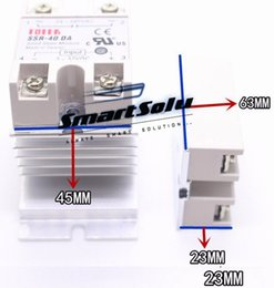 Wholesale Dc Ssr - SSR-40DA SSR Solid State Relay Module Output AC 90-480V Input for DC 3-32V 40A