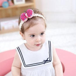 Wholesale Children S Hair Bands - Europe and the United States children 's knitting hair belt wholesale dots small pillow decoration hair band baby headband explosion models