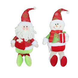 Wholesale Free Shipping Gadgets - Santa Claus Snow Man Doll Christmas Decorations Xmas Tree Gadgets Ornaments Doll Christmas Gift Free Shipping