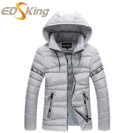 Wholesale Cheap Parka Jackets Men - Wholesale- Hot Selling 2016 Men Fashion Slim Fit Parka Casual Mens Winter Jackets Hooded Chaqueta Hombre Invierno Cheap-Male-Clothing