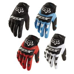 Wholesale Racing Cycles - 5Colors Fox Cycling Motorcycle Racing Gloves Autumn Winter Full Finger Mountain MTB Road Bike Bicycle Anti-slip Riding Ciclismo