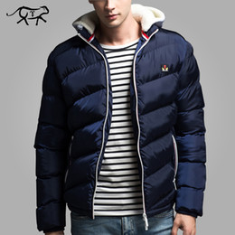 Wholesale Hooded Fashion Coats For Men - Wholesale- New Brand Clothing Winter Jacket Men Fashion Hooded Men's Jacets and Coats Casual Thick Coat for Male Warm Overcoat Outwear 4XL