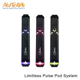 Wholesale Pulse Batteries - Authentic Limitless Mod Co Pulse Pod Vape Pen System New 2ml Pod System With 380 mah Internal Battery