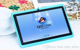 Wholesale Tablets Low Price Inches - Low price wholesale q88 7 Inch Android 4.4 Tablet PC ALLwinner A33 Quade Core Tablet Dual Camera 8GB 512MB Cheap Tablets