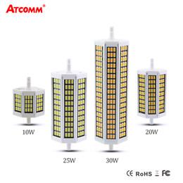 Wholesale R7s 78 - Wholesale- Ampoule LED R7S Spotlight Bulb 78 118 135 189 mm Flicker-Free 220V 10W 20W 25W 30W R7S LED Diode Bombillas Floodlight Lampara