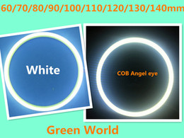 2 adet / grup DC12V-24V beyaz halka renk melek gözler çift renk Beyaz Amber COB Melek Gözler Led halo Yüzükler MOQ5bags nereden