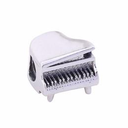 Otantik 925 Gümüş Boncuk Charm Vintage Sevimli Piyano Boncuk Fit Kadın Pandora Bilezik Bileklik DIY Takı Yapımı Aksesuarları nereden