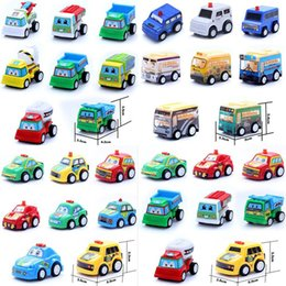 Wholesale Toy Fire Truck Models - Mini Pull Back Cars Model Toys Poket Cars children's toys Children Racing Car Toys Mini Police car Fire Truck Airplane for Kids gifts