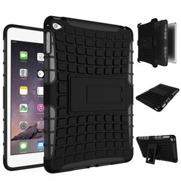 Wholesale Kid Ipad Case Cover - For iPad 2 3 4 Cases 9.7inch Screen Cover Shockproof Kids Protector Case PC + Silicone Hybrid Robot Protect Screen Protector Film Robot