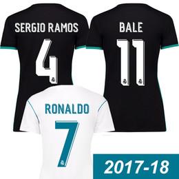 Wholesale Girl S Purple - Women 2017 2018 real madrid soccer jerseys 17 18 Ronaldo BALE Camiseta de futbol Isco Morata girl real madrid James kroos Benzema maillot