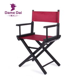 Wholesale Canvas Beach Chairs - Wholesale- Wooden Foldable Directors Chair Canvas Seat and Back Outdoor Furniture Portable Wood Director Chairs Folding Camping Beach Chair