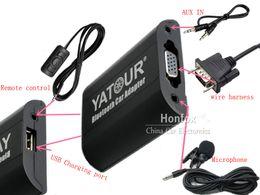 Wholesale Bmw X5 Usb - Yatour Bluetooth Car Adapter For BMW Rover 75 17-pin E36 E46 E39 E38 X3 X5 E83 Z3 YT-BTA Hand free USB Charger HI-FI A2DP
