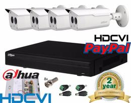 Wholesale Dahua Dvr 4ch - Dahua 4 Channel HDCVI Camera 4Ch HD IR CVI DVR Camera Kit Outdoor CCTV System +4PCS Bullet IR 50M Vandal-proof