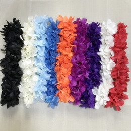 Wholesale Hawaiian Hula - Multi-Color Hawaiian Hula Leis Festive Party Garland Necklace Flowers Wreaths Artificial Silk Wisteria Garden Hanging Flowers