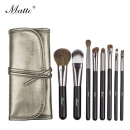 Wholesale make up for eyes - Matto Makeup Brushes Set Goat Hair Cosmetics Brushes for Makeup Beauty Make Up Tools Kit for Powder Blusher Eye Shadow Lip 8pcs