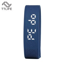 Wholesale Heart Rate Monitor Brands - Wholesale- TTLIFE Brand 2016 Sport Smartband Heart Rate Monitor Smart Band Temperature Bracelets Fitness Tracker Wristband for phone and PC