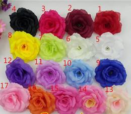 grossisti per fiori artificiali Sconti Trasporto libero di alta qualità 8 cm seta artificiale testa di fiore di rosa per la decorazione domestica di nozze grossista FH91702