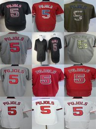 Wholesale Albert Pujols Jersey - Factory Outlet Mens Womens Kids Toddlers Los Angeles 5 Albert Pujols Best Quality Cheap Black Flag Green Grey Red White Baseball Jerseys