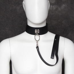 Wholesale Collar Chains Sex - 1pc Bdsm Sex Dog Slave Collar Bondage Belt With Metal Chain Slave Neck Ring Adult Games Fetish Sex Toys For Women And Men