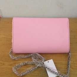 Wholesale Lady Tassel Shoulder Bag - 2017 New Style Hot Free Shipping Women's Handbags Shoulder Message Tassel Bag Silver Hardware chain 4 Colors
