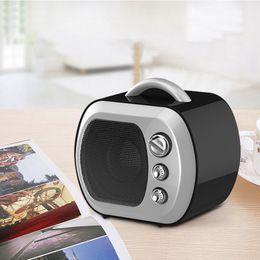 Wholesale Tv Card For Mobile Phone - Mini Speaker Television Model Bluetooth Speakers Radio FM Boombox Portable Retro TV Soundbar Music Amplifier for Phone