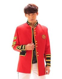 Wholesale Stylish Dresses For Men - Fashion suit men stylish blazers 2017 jacket designs costumes stage clothes for singers dance men blazer styles dress red