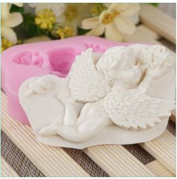 clay mold shapes Coupons - Angel Baby Shape Silicone Cake Mold Wedding Cake Decorating Tools Silicone Baking Candy Clay Gumpaste Chocolate Moulds