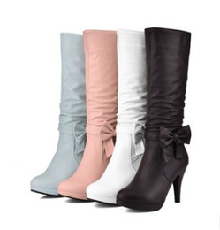 Wholesale Long Boots For Sale - High heels Boots For Woman Sexy Casual Squre High Heels Platform Long Girl's Hot Sale Shoes
