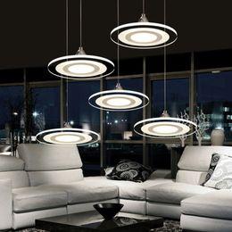 Wholesale 19 Wheels - Modern Led Pendant Lights Round Wheel Cord Lamp Dining Room Lustres 110-240V Chandelier Lights for Kitchen LED Ceiling Fan Hang Fixtures