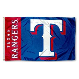 Wholesale Office Decoration Festival - Texas Rangers Flag Baseball Team Flag Party Decoration Offices T Flags Festival Party Supplies Blue Red Banners Birthday Party Banner