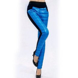 Wholesale Thermal Leggings Wholesale - Wholesale- Velvet women Leggings 6 Candy Colors Thick Thermal Workout Clothes Winter Leggins Down Pants Warm Large Size Trousers