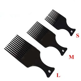 Wholesale Model Lifts - Wholesale- 3 Models Plastic flat comb hair fork comb insert afro hair pik lift disc combs free shipping