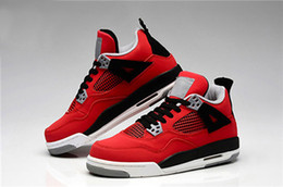 Wholesale China Shoes Women Running - 2016 Cheap Air Retro 4 IV Cement Fire Red Fear Men Basketball Shoes China Original Quality Authentic Freeshipping