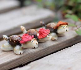2019 tortues d'ornements 2017 nouveau micro mousse - paysage ornements shell chapeau de paille tortue de bande dessinée bricolage assemblée petits ornements livraison gratuite tortues d'ornements pas cher