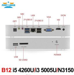 Wholesale desktop windows - Partaker B12 Windows Fanless Mini PC N3150 With VGA HDMI LAN SD Card Wifi Desktop Computer